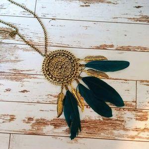 Southwestern Feather Necklace